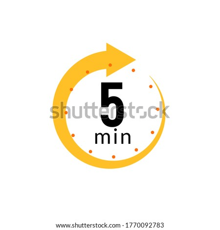 5 minutes clock quick number icon. 5min time circle icon Stockfoto ©
