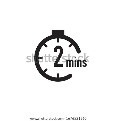 2 minutes timer, stopwatch or countdown icon. Time measure. Chronometr icon. Stock Vector illustration isolated on white background. Stockfoto ©