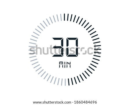30 minutes timers Clocks, Timer 30 min icon Stock photo ©