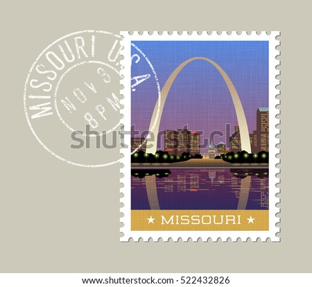 missouri postage stamp design