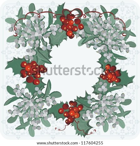 mistletoe red and white