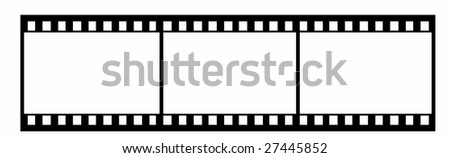 35 mm film footage vector illustration