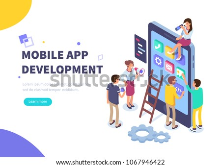 mobile app development concept ...