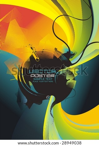 modern abstract vector design with place for your text, poster template - stock vector