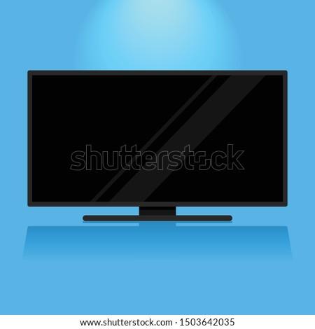 modern flat screen black