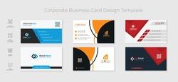 3 modern minimal corporate business card template design