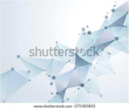 molecular polygonal background