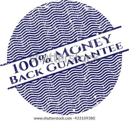 100% Money Back Guarantee rubber grunge texture stamp
