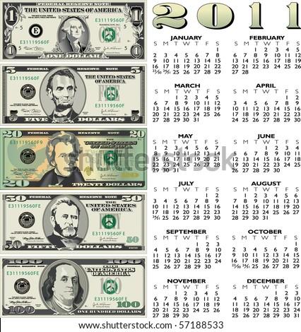 2011 money calendar