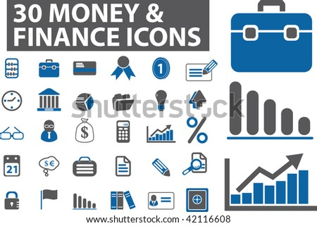 30 money & finance icons. vector