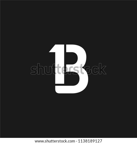 13 monogram  1 b monogram  bold