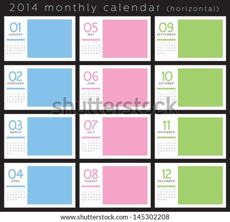 2014 Monthly Calendar #145302208