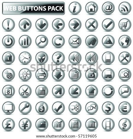 60 most popular web icons in one mega pack, light version