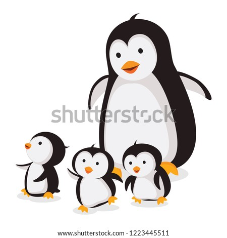 mother penguin with baby