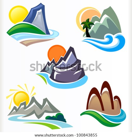 MOUNTAIN AND HILLS SYMBOLS