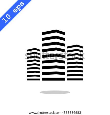 Multistory building icon Vector.