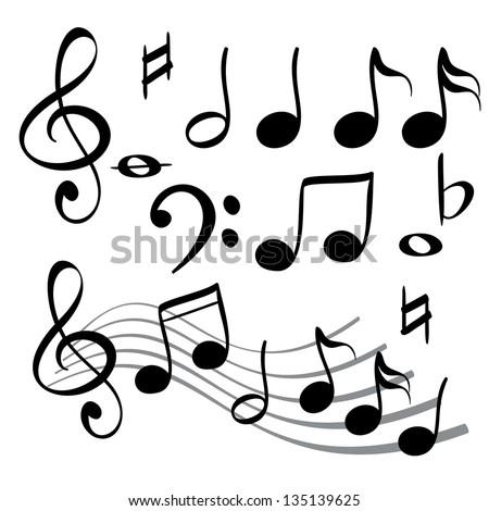 music note icon cartoon vector  illustration