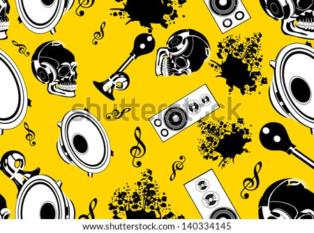 music seamless pattern background in vector