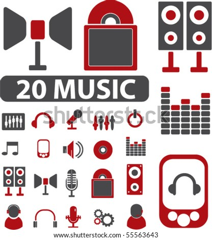 images of music signs. stock vector : 20 music signs.