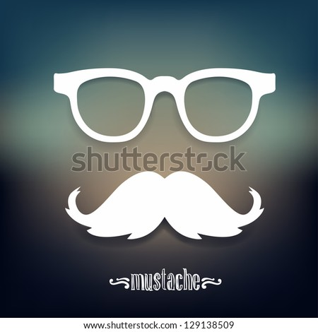 Mustaches, sunglasses ector illustration - stock vector