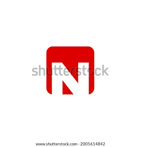 'N' initial letter company name monogram. N logo. N company logo vector.  Stock fotó ©