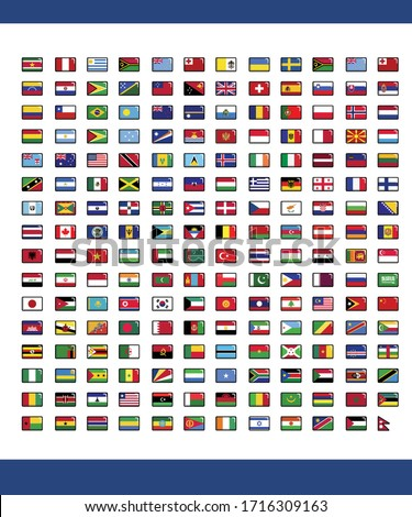 192 National flags icon pack