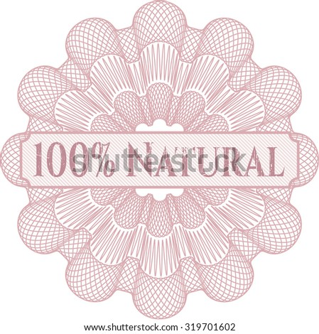 100% Natural abstract linear rosette