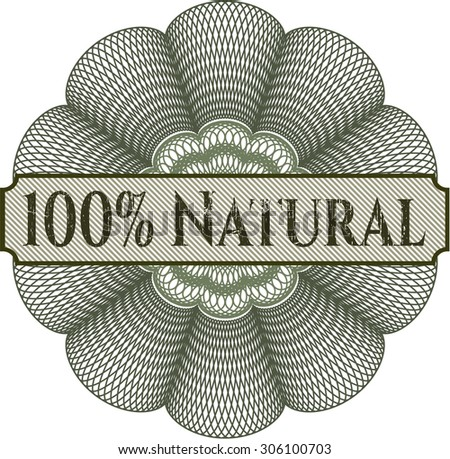 100% Natural abstract rosette