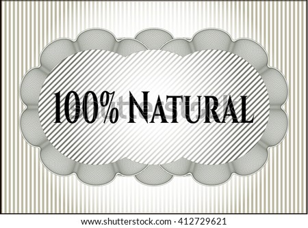 100% Natural card, poster or banner