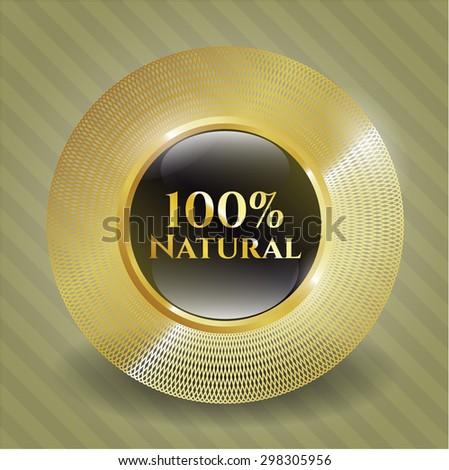 100% Natural gold badge