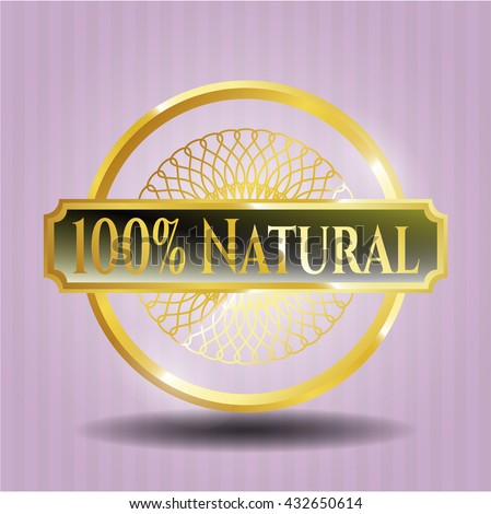 100% Natural gold shiny emblem