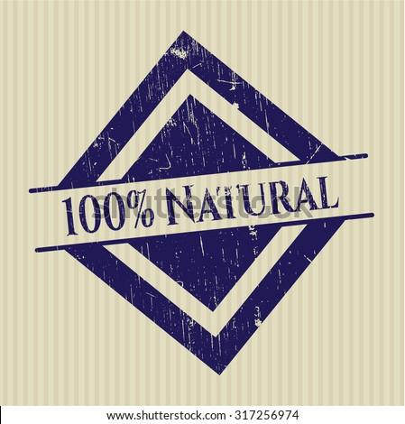100% Natural grunge seal