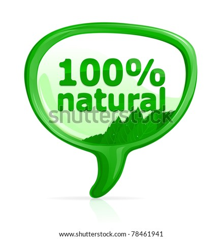 100% natural icon