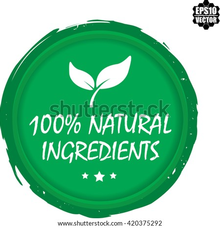 100  natural ingredients stamp