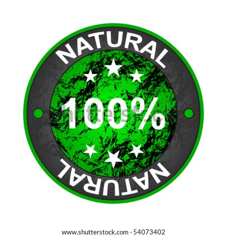 100 % NATURAL label