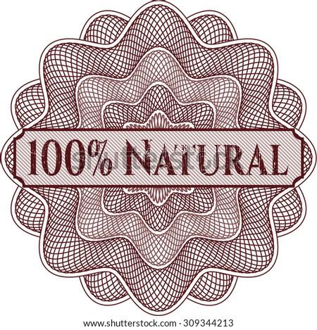 100% Natural linear rosette