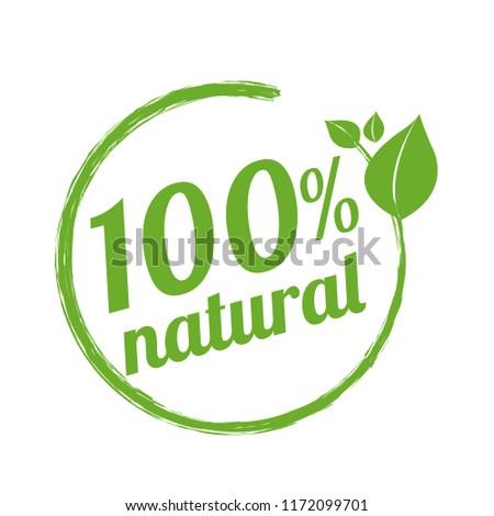 100% Natural Logo Symbol, Vector Illustration, Vector Illustration