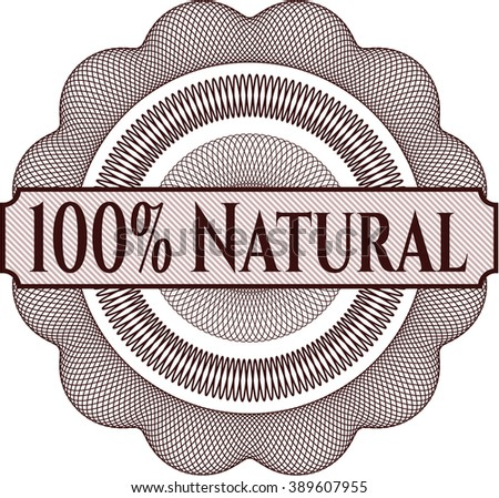 100% Natural money style rosette