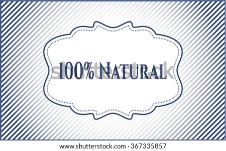 100% Natural poster or card