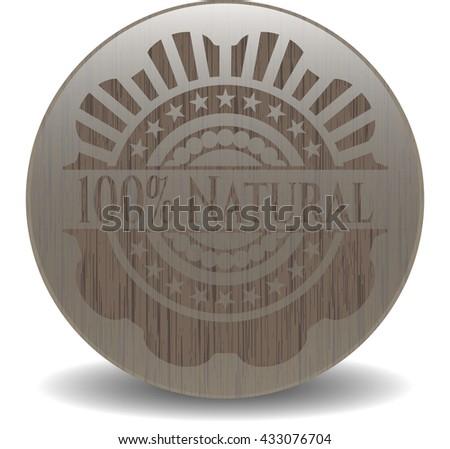 100% Natural realistic wooden emblem
