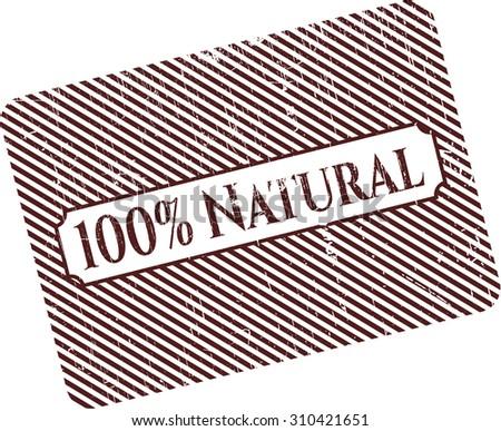 100% Natural rubber grunge stamp