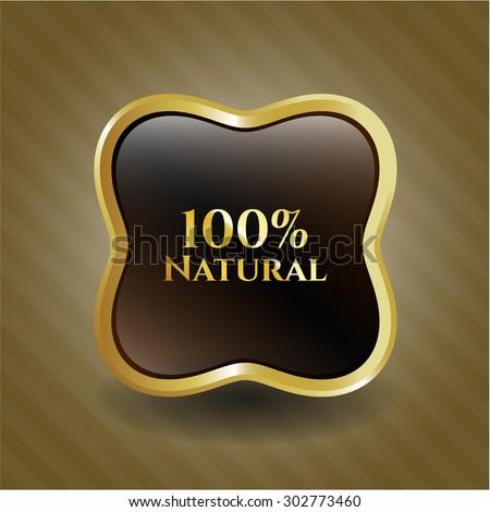 100% Natural shiny badge