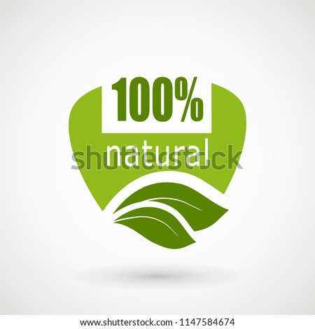 100 Natural Stamp Illustration., premium quality, locally grown, healthy food natural products, farm fresh stickers. Vector menu organic labels, food products packaging bio emblems