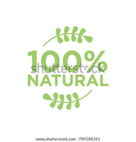 100% natural vector logo design