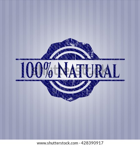 100% Natural with jean texture