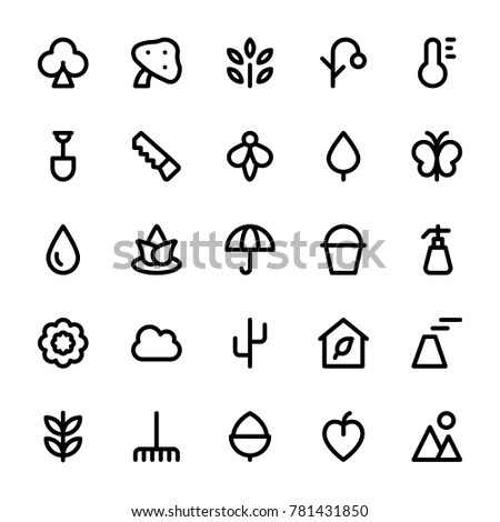 Nature and Ecology Vector Line Icons 1