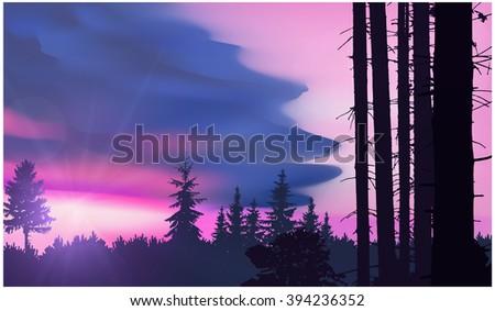 nature background panorama of