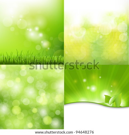 4 nature background  vector