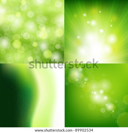 4 nature backgrounds  vector