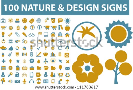 100 nature   design icons